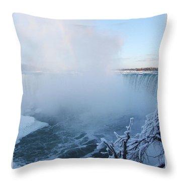 Niagara Falls -  Minus 20 C Throw Pillow