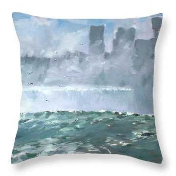 Niagara  Falls Mist  Throw Pillow