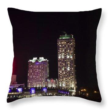 Niagara Falls Ontario Skyline Throw Pillow by Darleen Stry
