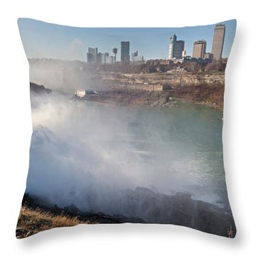 Niagara Falls Panorama Throw Pillow