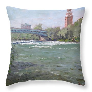 Niagara Falls River Ny Throw Pillow