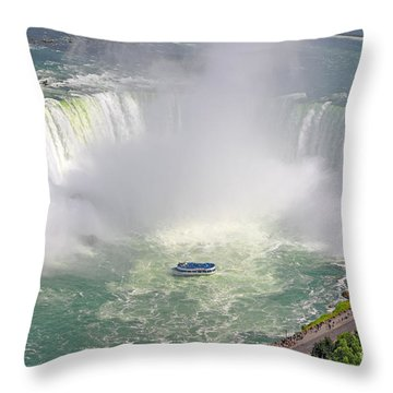 Niagara Falls Summer Throw Pillow by Charline Xia