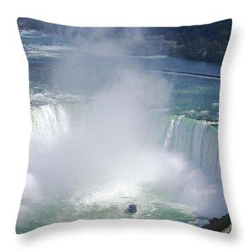 Niagara Falls Summer Vertical Throw Pillow