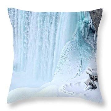 Niagara Falls Winter Secret Throw Pillow by Charline Xia