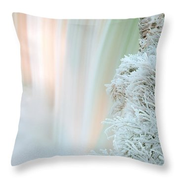 Niagara Falls Winter Twillight Throw Pillow by Charline Xia