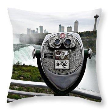 Niagara Vigil Throw Pillow by Richard Reeve