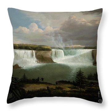 Niagra Falls By Alvan Fisher Throw Pillow
