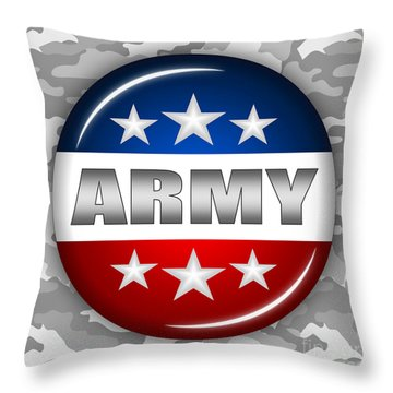 Nice Army Shield 2 Throw Pillow by Pamela Johnson