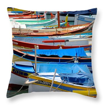 Nice Boats  Throw Pillow by Suzanne Oesterling