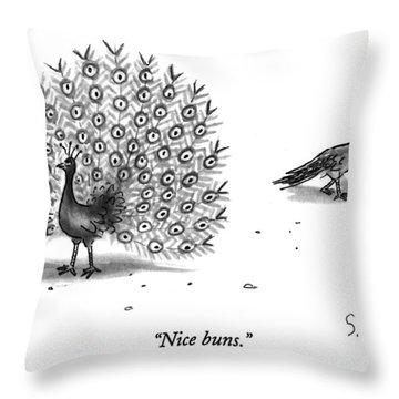 Nice Buns Throw Pillow