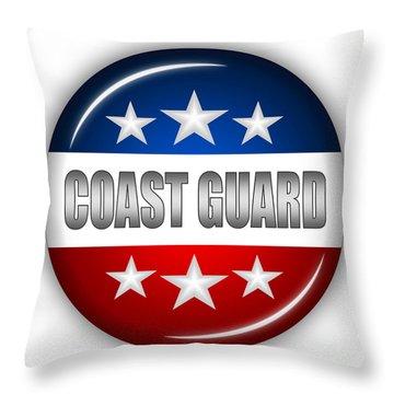 Nice Coast Guard Shield Throw Pillow by Pamela Johnson