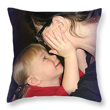 Nice Mommy Throw Pillow by Shirley Sirois