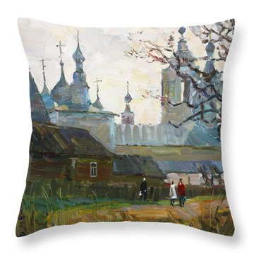 Nicholas Uleyminsky Monastery Throw Pillow