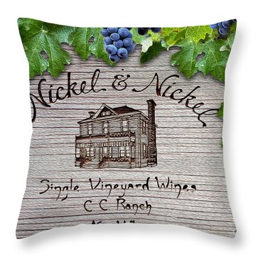 Nickel And Nickel Winery Throw Pillow