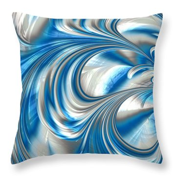 Nickel Blue Abstract Throw Pillow