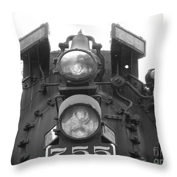 Nickel Plate Throw Pillow by Michael Krek
