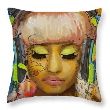 Trance Throw Pillows