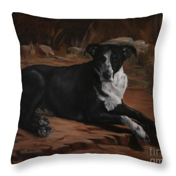 Nicky Throw Pillow by Lisa Phillips Owens