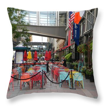 Nicollet Ave. Restaurant 1 Minneapolis Throw Pillow
