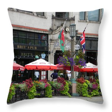 Nicollet Ave. Restaurant 2 Minneapolis Throw Pillow