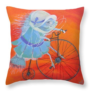Throw Pillow featuring the painting Niece Sonia by Marina Gnetetsky