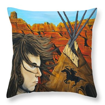 Neil At The Canyon Throw Pillow