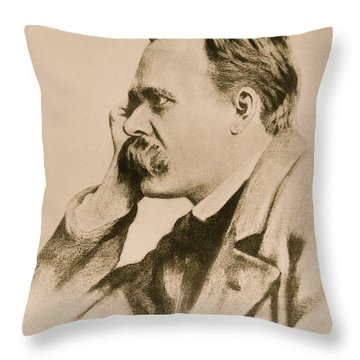 Nietzsche Throw Pillow