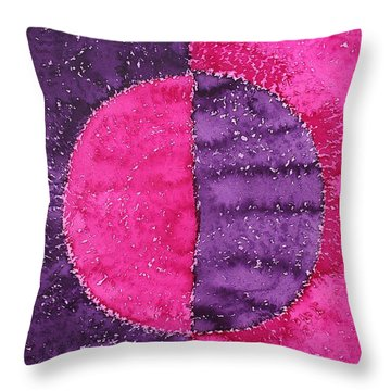 Night And Day Original Painting Throw Pillow by Sol Luckman