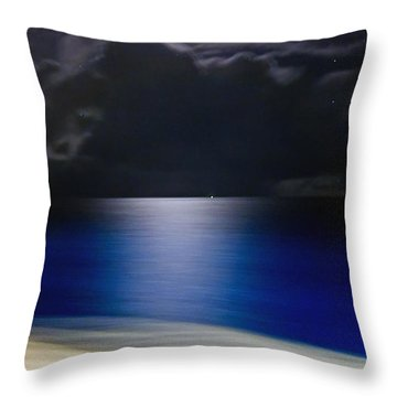 Night And Water Throw Pillow by Hanny Heim