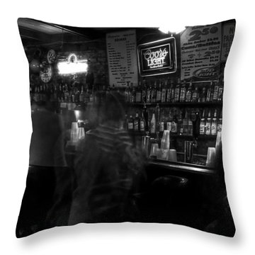 Night At A French Quarter Bar Throw Pillow