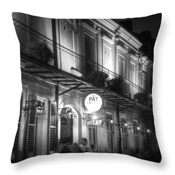 Night At Pat O'brien's Throw Pillow