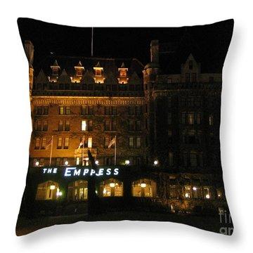 Night At The Empress Hotel Throw Pillow