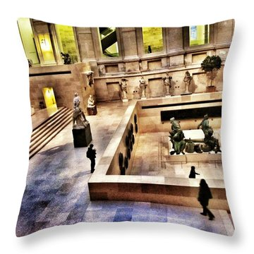 Night At The Louvre Throw Pillow