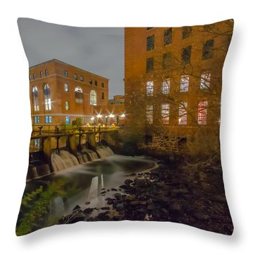 Night At The River Throw Pillow