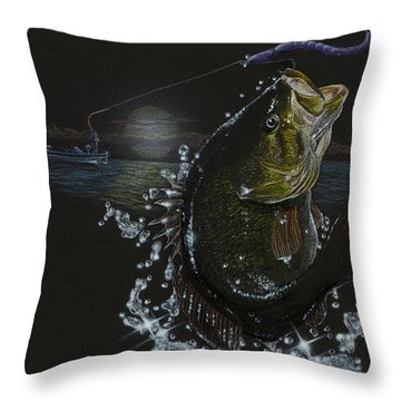 Night Bass Throw Pillow
