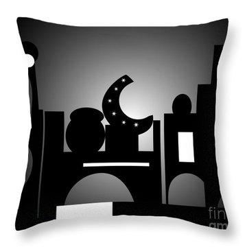Night Bazaar Throw Pillow