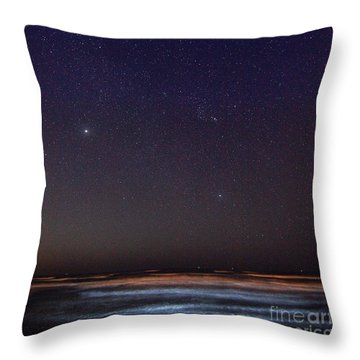 Throw Pillow featuring the photograph Night Beach by Martin Konopacki