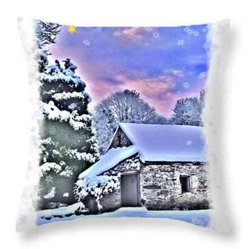 Christmas Card 27 Throw Pillow by Nina Ficur Feenan