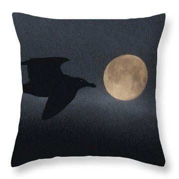 Night Bird Throw Pillow by Mark Alan Perry