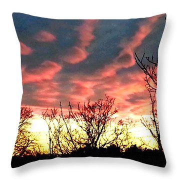 Night Blaze Throw Pillow