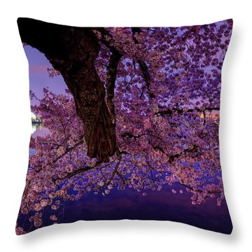 Night Blossoms Throw Pillow