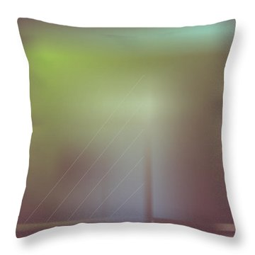 Night Bridge Throw Pillow by Kevin McLaughlin