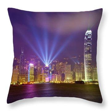 Victoria Tower Throw Pillows