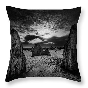 Night Comes Slowly Throw Pillow
