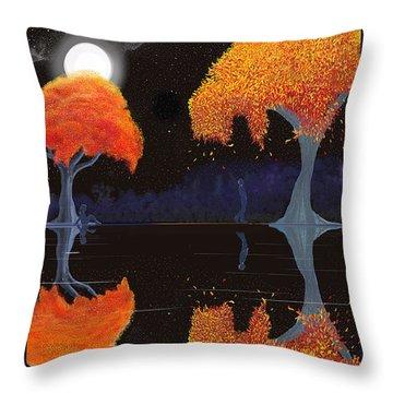 Night Companions  Throw Pillow