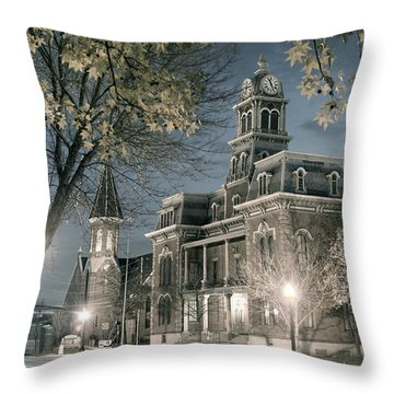 Night Court Throw Pillow by William Beuther