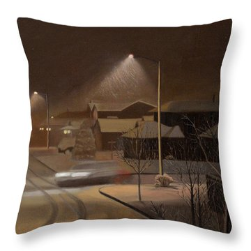 Night Drive Throw Pillow