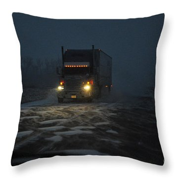 Night Driver Throw Pillow