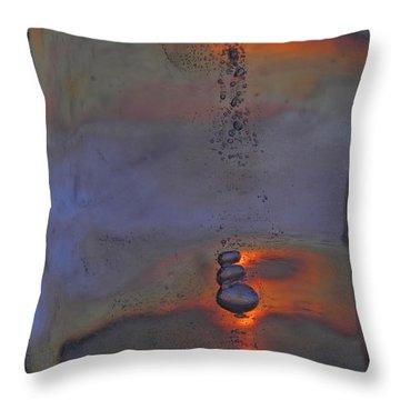 Night Drops Throw Pillow
