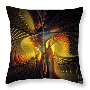 Night Exposure Throw Pillow